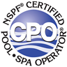 Photo of logo for Pool and spa service certification NSPF Certified Pool Spa Operator