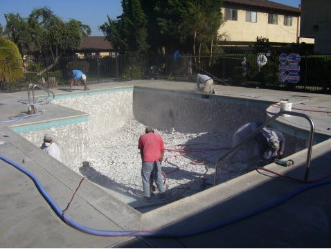 commercial pool plaster demo Pool Plaster