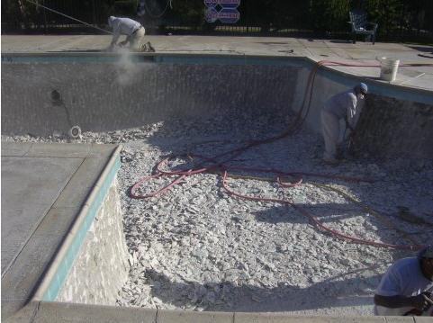 commercial pool plaster demo 2 Pool Plaster