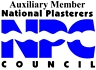 Photo of logo NPC Auxillary Member, National Plasterers Council presented to Amazing Pools in Cypress, CA.